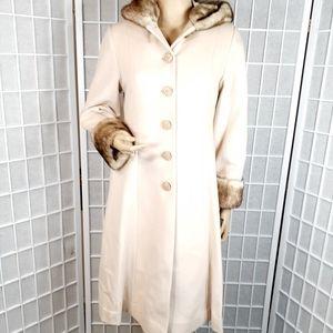 Rothschild Faux Fur Wool Dress Coat 16